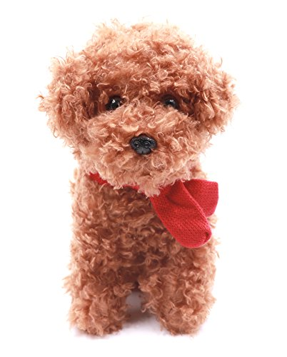 Brown Plush Dog (WuKong 7.8'' Plush Dog Toy Cute Stuffed Animal Puppy Toys with Scarf (Brown))