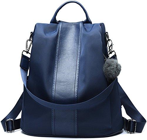 Nylon Rucksack (Riavik Women Backpack Purse Waterproof Nylon Anti-theft Rucksack Scool Shoulder Bag for Girls Nylon-Blue)