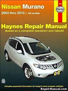 amazon com nissan murano chilton repair manual 2003 2010 automotive rh amazon com 2004 nissan murano owners manual 2004 nissan murano owners manual