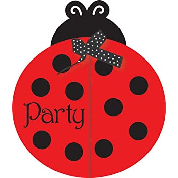 Amazon Com Creative Converting Ladybug Fancy Birthday Party