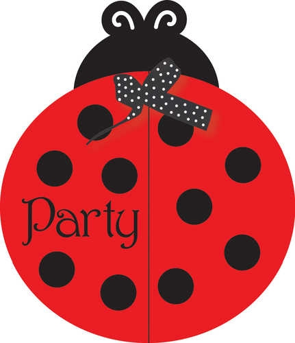 Creative Converting Ladybug Fancy Birthday Party Invitations, 8-Count