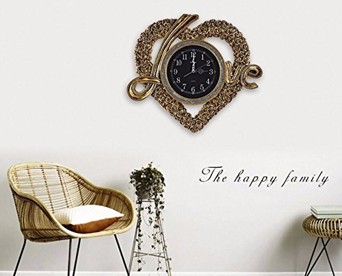 The Silence in the living room decorative wall clock warm LOVE heart-shaped watch trend creative modern bedroom romantic marriage room ornaments, gold