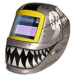 ArcOne 2500V-0171 Professional Grade Carrera Welding Helmet Shell with 2500V Auto-Darkening Filter, Fighting Tiger