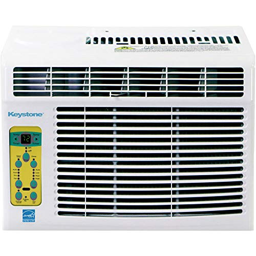 Keystone, KSTAW12CE Energy Star 12,000 BTU Window-Mounted Air Conditioner with Follow Me LCD Remote Control, White
