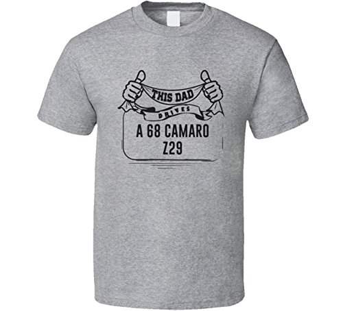 CarGeekTees.com This Dad Drives a 68 Camaro Z29 Father's Day T Shirt 2XL Sport Grey (Camaro Z29 compare prices)