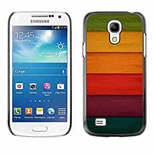 Shell-Star ( Colorful Colored Wood ) Fundas Cover Cubre Hard Case Cover para Samsung Galaxy S4 MINI / i9190 / i9192