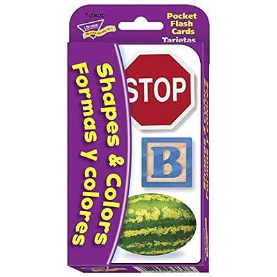 Trend Enterprises Inc. Colors & Shapes/Colores y formas (EN/SP) Pocket Flash Cards: Toys & Games