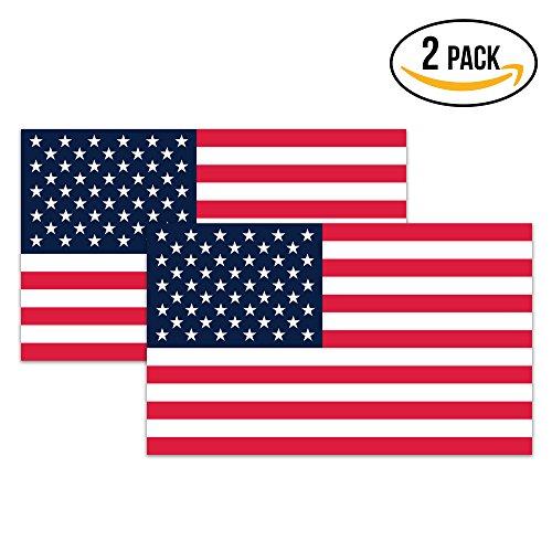Classic Biker Gear American Flag Hard Hat Stickers - 1.8