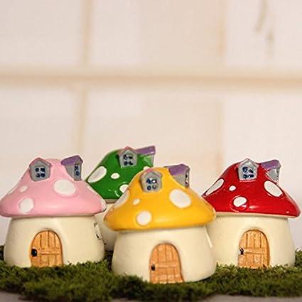 Bonsai Pots Sale - 4 5cm Diy Resin Mushroom House Carft