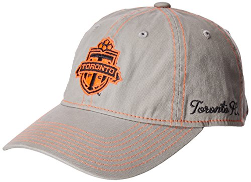 MLS Toronto FC Adult Women MLS SP17 Neon Logo Adjustable Slouch Cap,Osfa,Gray