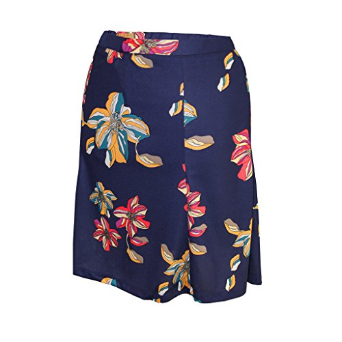 Monterey Club Ladies Dry Swing Peony Print Skort #2904 (Navy, Medium)