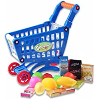 New Mini Shopping Cart With Full Grocery Food Toy Fun Prentend For Kids By KTOY