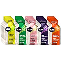 GU Energy Original Sports Nutrition Energy Gel, Assorted Fruity Flavors, 24-Count