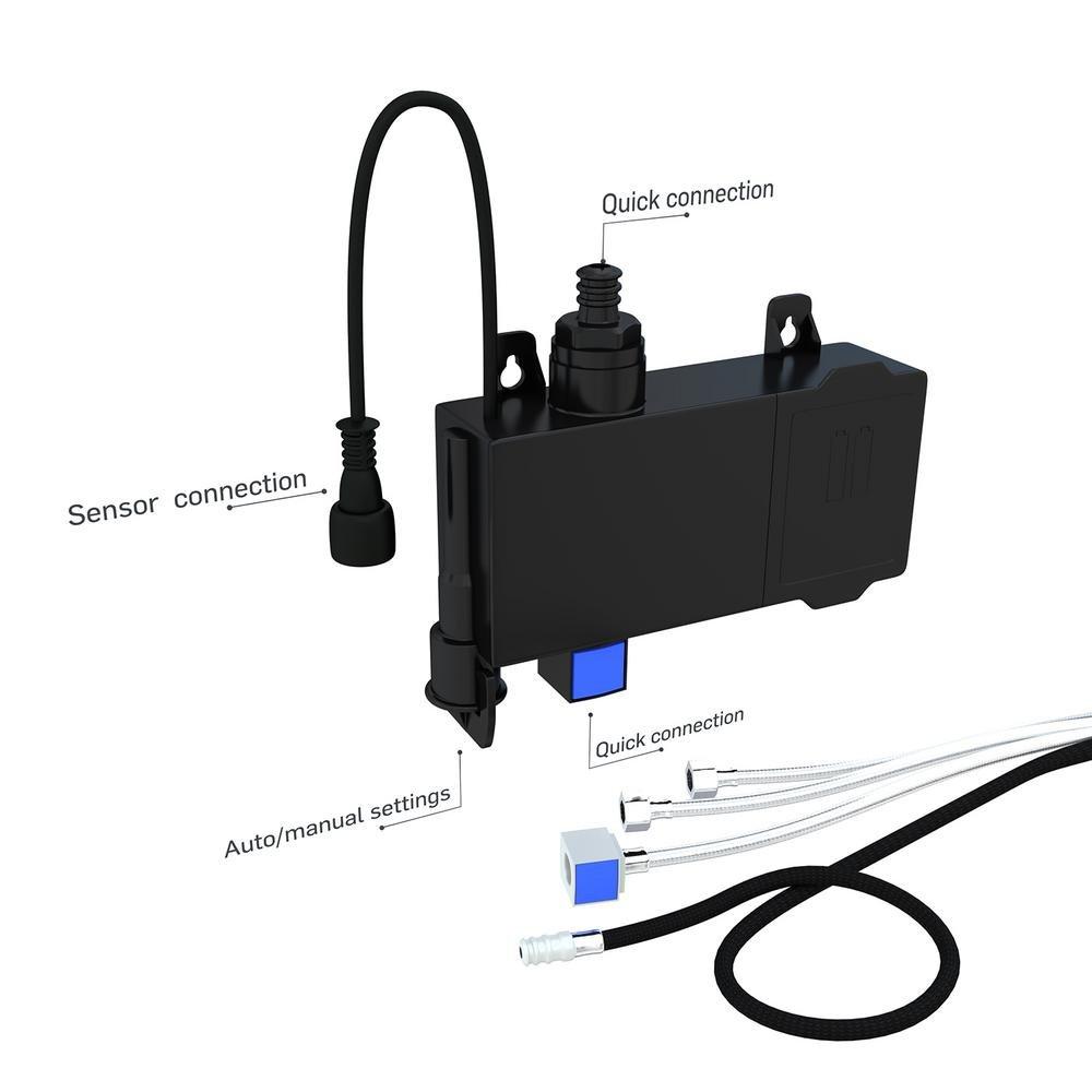Flujo grifo, manos libres sensor de movimiento tecnología grifo de la cocina, doble cabezal pulverizador ofrece 2 estilos de agua, fácil instalación no ...