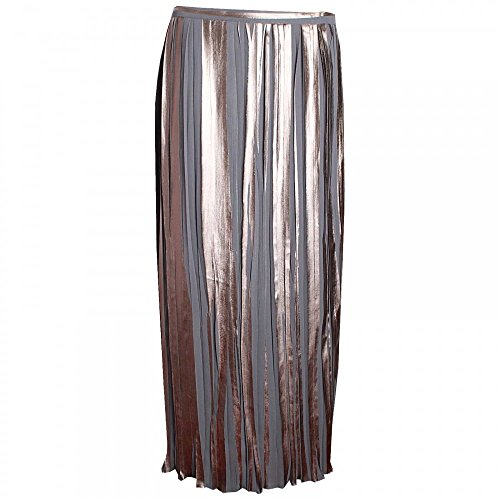 Pleated Paola Crystal Collection Dorado Long Skirt wvfFqv
