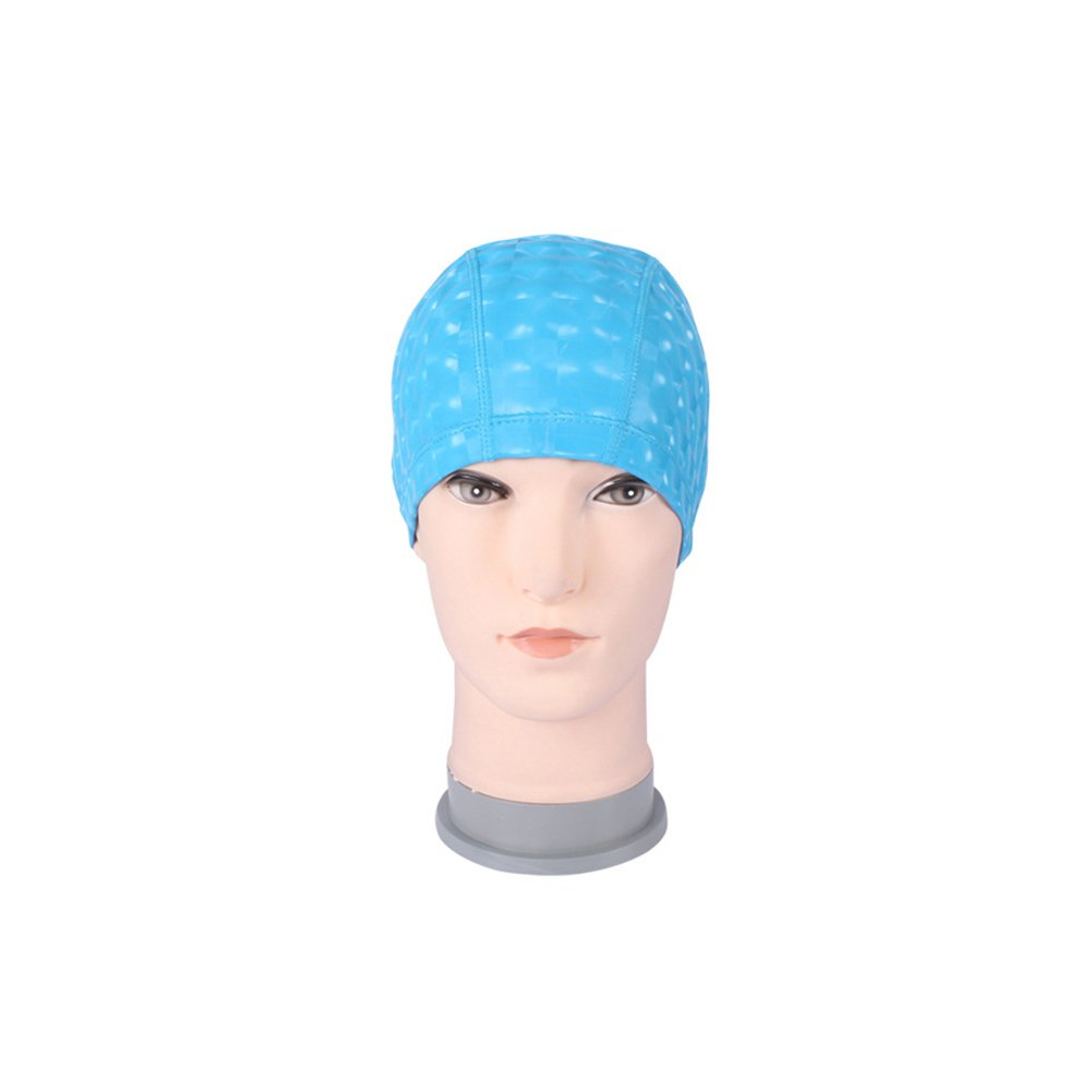 Guoainn Unique Unisex Thicken Faux Leather Soft Elastic Waterproof Swimming Cap Hair Protector
