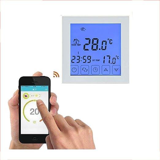 WiFi termostato inteligente, gran pantalla táctil Programable ...