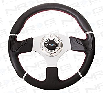 NRG Innovations ST-008R 320mm Sport Leather Steering Wheel with Trim