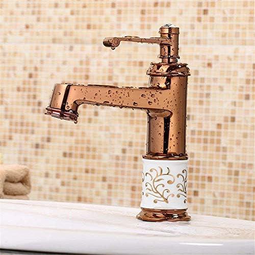 CHENBIN-BB 洗面所真鍮温水と冷水の真鍮温水と冷水単穴の洗面化粧台のシンクの蛇口のための洗面シンクミキサータップ