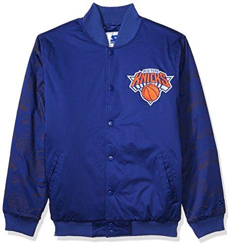 STARTER NBA New York Knicks Men s Varsity Bomber Jacket 371b39482