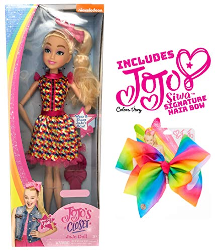 Ropeastar JoJo Siwa Doll Play Set with JoJo Siwa Signature Hair Bow for Girls (18