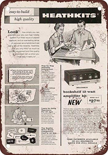 New Tin Sign Aluminum Retro 1958 Build a Heathkit Amplifier, used for sale  Delivered anywhere in USA