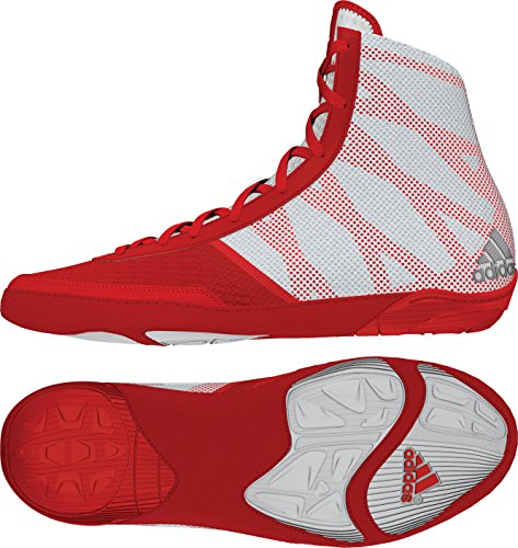 adidas Pretereo III Wrestling Shoes - Red/Silver/White - 9.5