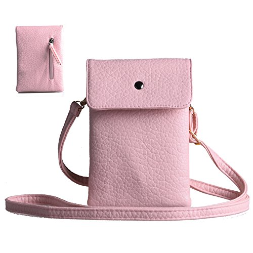 Katloo PU Leather Small Crossbody Bag Wallet Purse Cellphone Pouch with Shoulder Strap for Women Girls