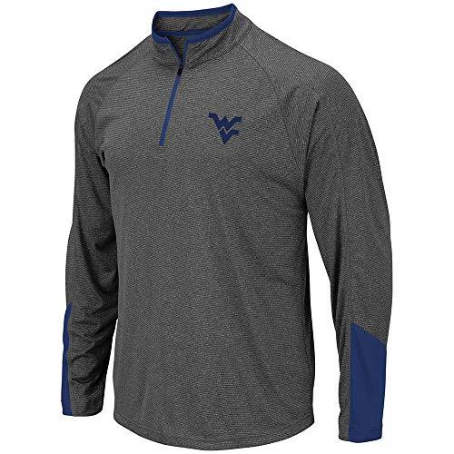 Colosseum Mens WVU West Virginia Mountaineers Tasmania Quarter Zip Wind Shirt - L