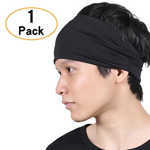 QINGLONGLIN Headbands for Men and Women - Sweat Wicking Turban Elastic No Slip Fashion Multi Style Head Wrap Hair Band for Yoga Running Tennis Sports & Premium Quality