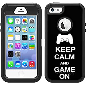 Otterbox Defender Keep Calm y Game con tapa para iPhone 5S