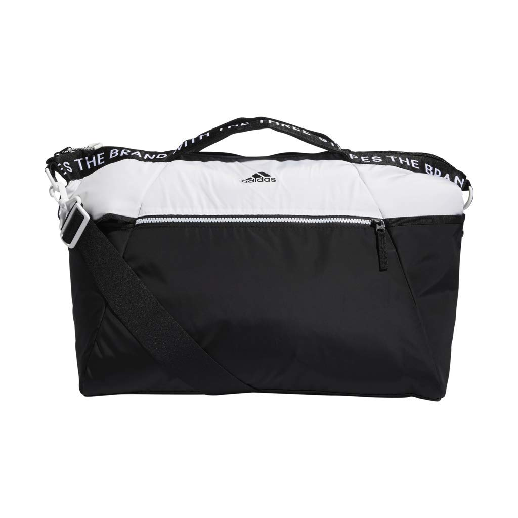 cbf5fa1a9e4 Amazon.com  adidas Studio III Duffel Bag, White Black, One Size  Sports    Outdoors