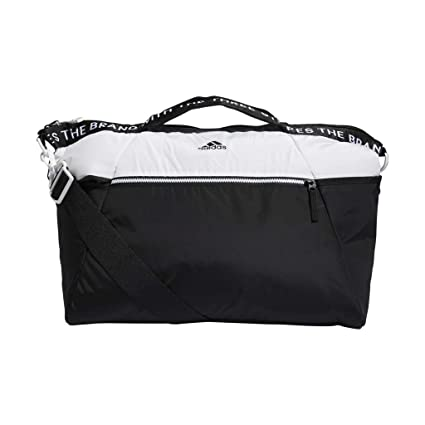 e2abfa462f7 Amazon.com  adidas Studio III Duffel Bag, White Black, One Size ...