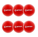 "Get Out! 6"" Inch Foam Dodgeballs 6-Pack Set in Red – Latex-Free Sponge Playground Dodgeball Balls"