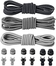 Aniwon 3.28ft Sport Shoe Laces Round Shoe Laces No Tie Elastic Running Shoelaces with Lace Lock and Cord Clip