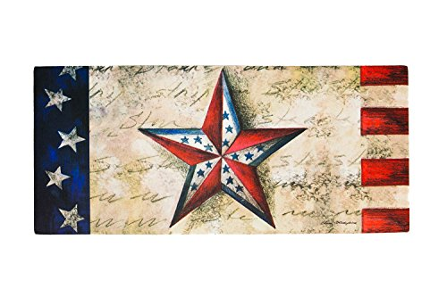 Seasonal, Easy to Clean, Evergreen 4th of July Patriotic Star Holiday Sassafras ()