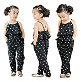 Baby World Kids Girls Harness Heart-shaped Rompers Summer Jumpsuit Clothes (4T(advice 3 years), black)