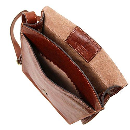 Tuscany Leather TL Messenger - Bolso en piel con bandolera 1 compartimento - TL141447 (Miel) Miel