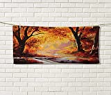 Anniutwo Country,Travel Towel,Paint a Forest Autumn Color Leaves Fall Time Sadness Season Theme Art,Quick-Dry Towels,Orange Brown Size: W 14'' x L 27.5''