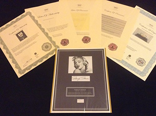 MARILYN MONROE AUTHENTIC HairLock w Photo Autograph Provenance Signed Certified COA