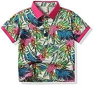 Boy's Coconut Tree Print Beach Tops Baby Aloha Hawaiian Shirt (1-5 Years