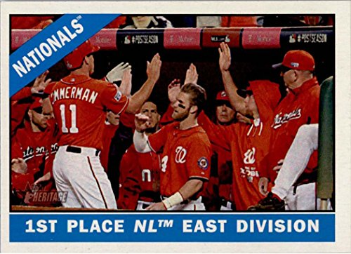 Washington Nationals 2015 Topps Heritage MLB Baseball Complete Mint Basic 12 Card Team Set with Bryce Harper Team Checklist Card Plus - Washington Nationals Card