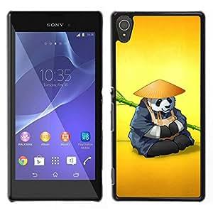 EJOY---Cubierta de la caja de protección para la piel dura ** Sony Xperia T3 ** --El Panda Warrior Meditar