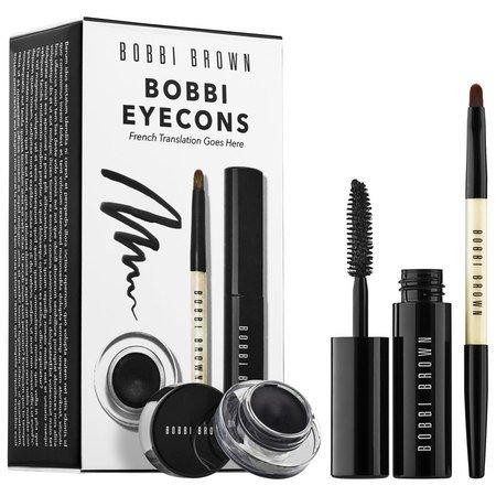 Bobbi Brown Bobbi's Eyecons Long-Wear Gel Eyeliner, Smokey Eye Mascara Mini Set