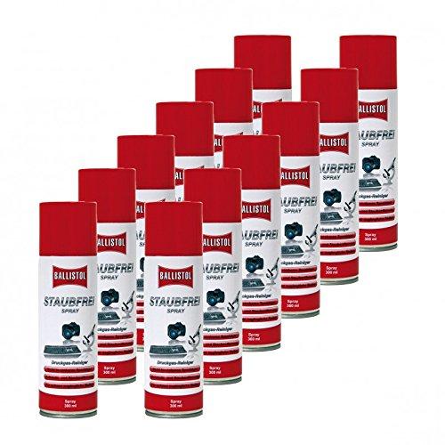Ballistol libre de polvo 12 x 300 ml Spray de aire comprimido ...