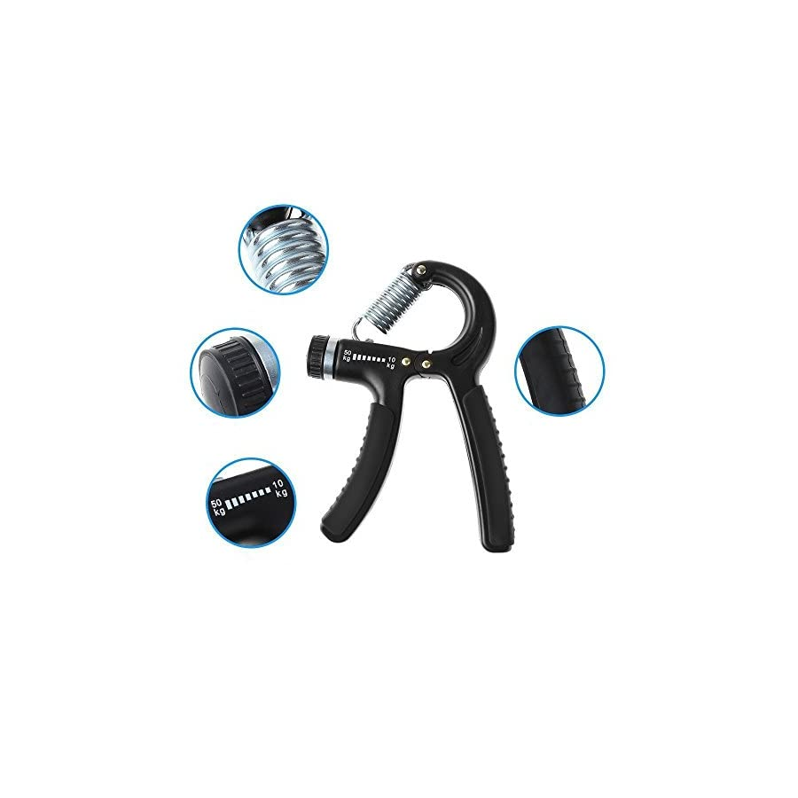 Luxon 2 Pack Hand Grip Strengthener Adjustable Resistance 22 110 Lbs (10 50kg) Hand Grip Exerciser, Strengthen Grip, Hand Squeezer, Forearm Grip, Hand Exercise, Gripper, Finger Strengthener