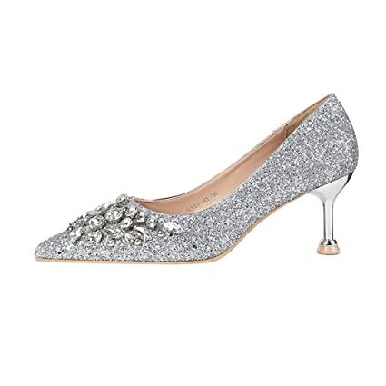 d4ba7c224f647 Amazon.com: YXB Women's High Heels PU Pumps Fashion Pointed High ...