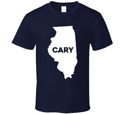 Amazon Com Cary Illinois City Map Usa Pride T Shirt Clothing