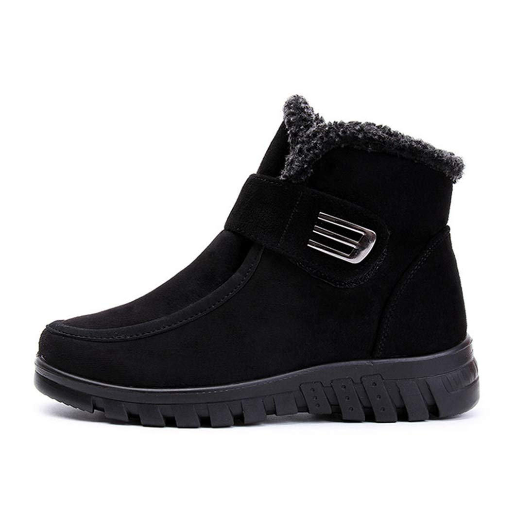 Frauen Stiefel Winter Schnee Antislip Hakenverschluss Flache warme beiläufige Stiefelies Schuhe