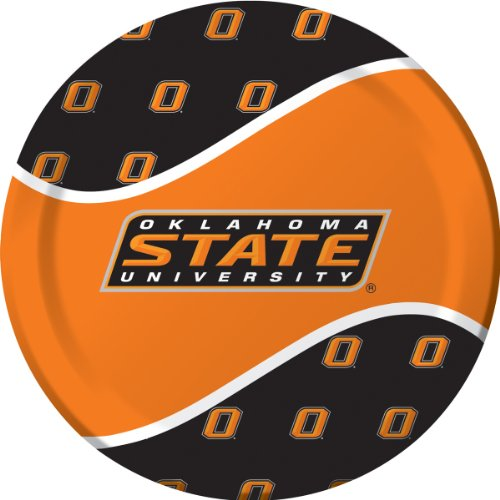 Plates Dinner Cowboys (Creative Converting Oklahoma State Cowboys Dinner Paper Plates (8 Count))